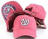 Washington Nationals MLB New Raglin Faded Screen Printed Dad Hat