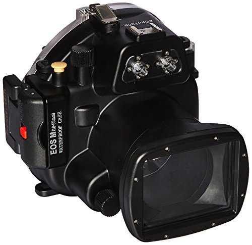 (Polaroid SLR Dive Rated Waterproof Underwater Housing Case For The Canon EOS M Camera with a 18-55mm Lens)