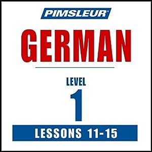 German Level 1 Lessons 11-15 Speech