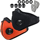 Infityle Dustproof/Dust Mask - Activated Carbon Dust Proof Pollution Respirator with Filter Filtration Cotton Sheet and Valves for Exhaust Gas, Running, PM2.5,Anti Pollen Allergy, Cycling