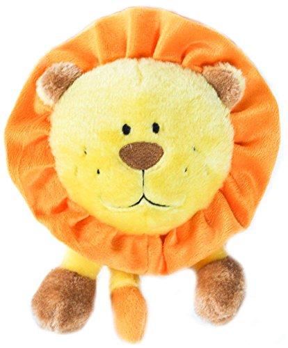 ZippyPaws Brainey Squeaky Plush Dog Toy, Lion