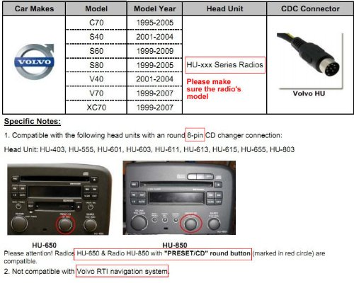51hccIq6aXL yatour digital mp3 music cd changer adapter usb sd aux for volvo volvo hu-803 wiring diagram at gsmx.co