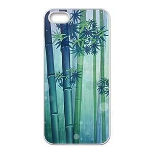 Fresh bamboo Phone Case for iPhone 5S(TPU)