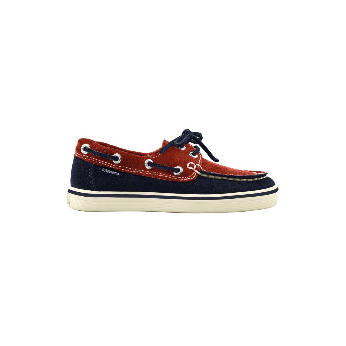 Mocasines - 2001-suej - Bambini - Blue-Bright Red - 26: Amazon.es: Zapatos y complementos