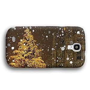 Christmas Tree Cathedral Snow Winter Samsung Galaxy S4 Slim Phone Case