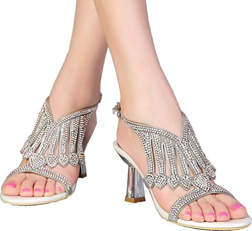 Models Sandals Buckle Salabobo Diamond Summer Gold Hollow Temperament L005 Shiny High chunky heeled Rhinestone Sexy wqU47
