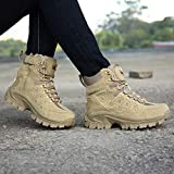 Treasu-LQ Men's Suede Leather Outdoor Hiking Boots