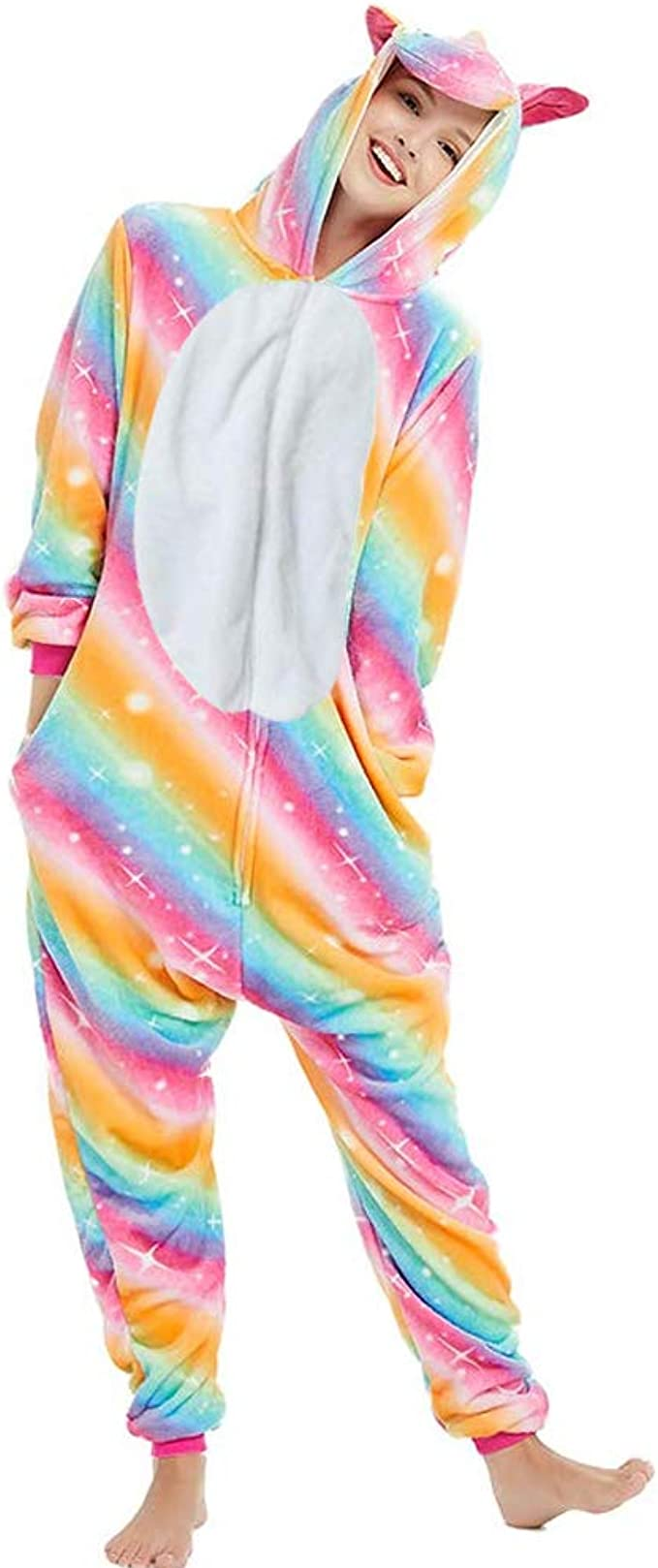 Pijama Unicornio Adulto - Cosplay Animal Disfraz Pyjamas Mujer ...