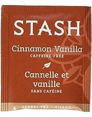 Stash Tea Cinnamon Vanilla Herbal Tea 100 Count Tea Bags in Foil (packaging may vary) Individual Herbal Tea Bags for Use in Teapots Mugs or Cups, Brew Hot Tea or Iced Tea