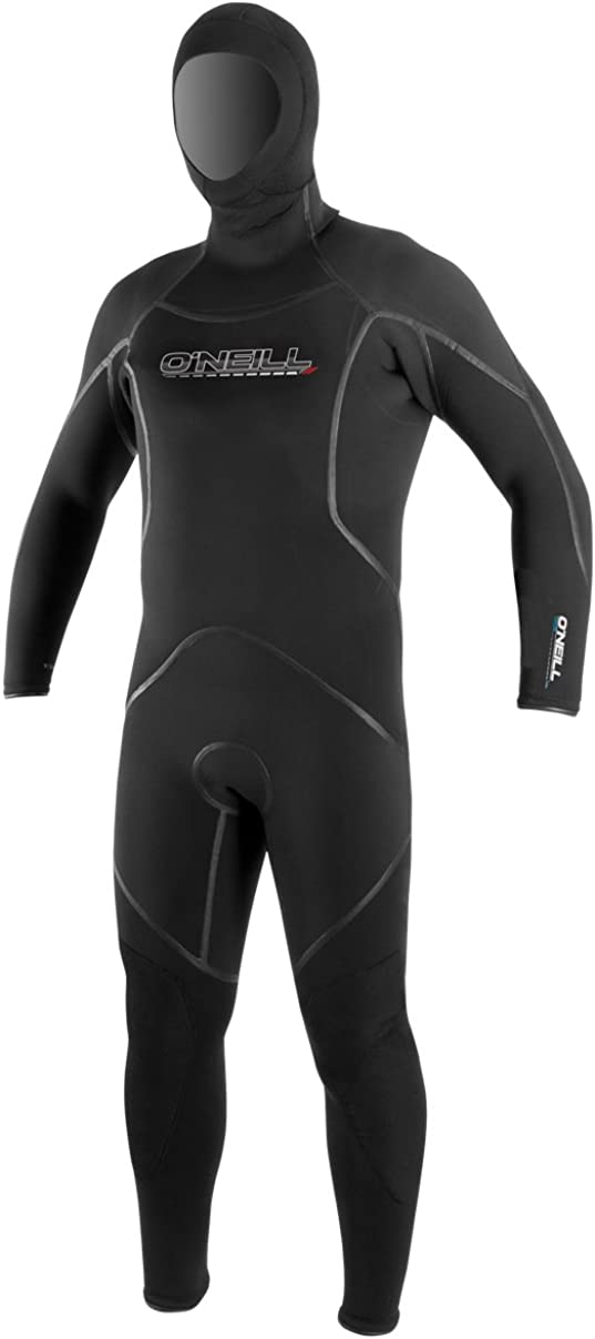 O'Neill Men's Dive J-Type 7mm Back Zip Full Wetsuit with Hood