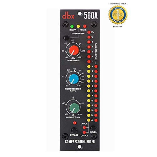 dbx 560A 500 Series Compressor/Limiter with Microfiber and Free EverythingMusic 1 Year Extended Warranty by DBX