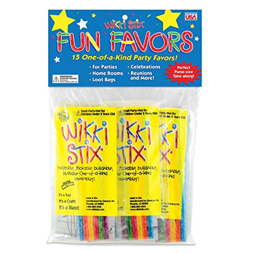 Wikki Stix Party Favor Pak, Pack of 15 Molding & Sculpting Sticks -
