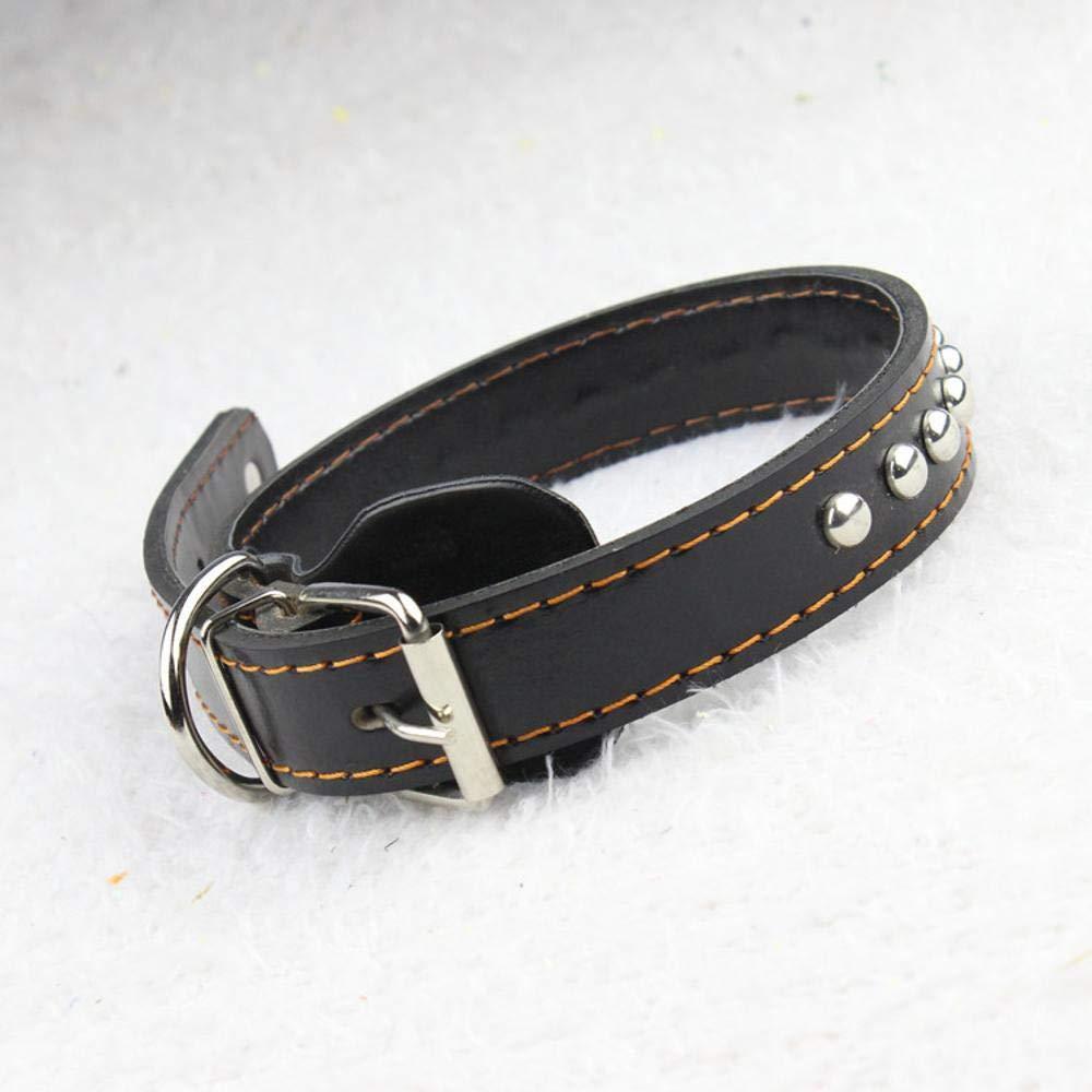 Daeou Collari per cani Vacchetta collo anello grande cane, adatto per cane-circonferenza del collo in 4760 cm, 3,0 cm  65 cm