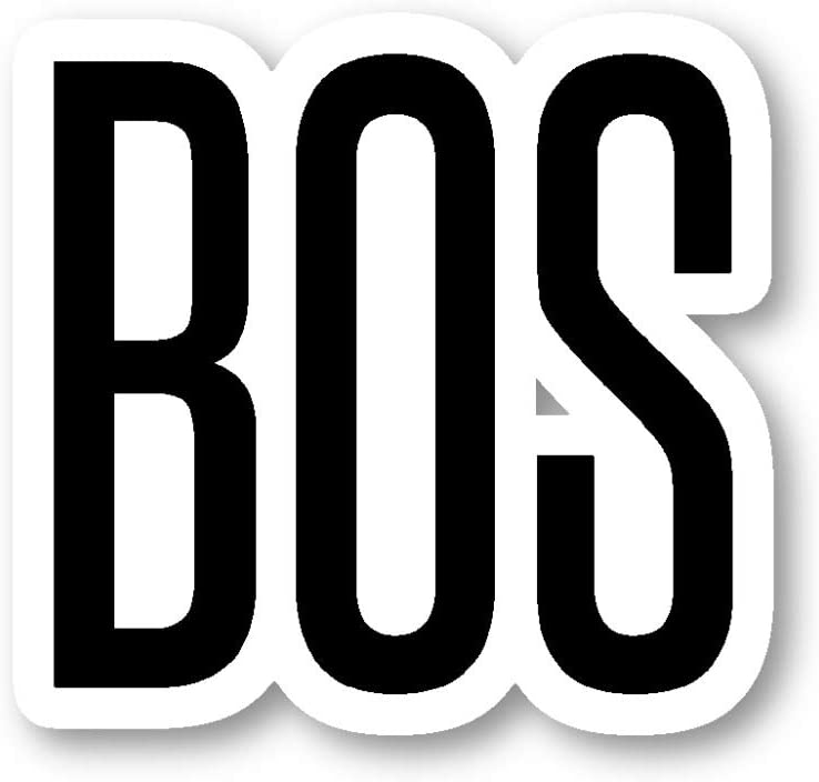 BOS Boston Sticker Airport Codes Stickers - Laptop Stickers - Vinyl Decal - Laptop, Phone, Tablet Vinyl Decal Sticker S12178
