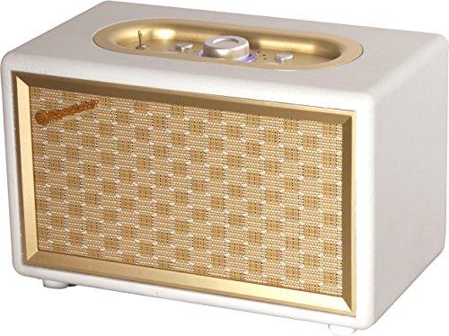 Roadstar HRA-310BT Retro Radio mit Bluetooth (UKW-Radio, 2 x 8 Watt RMS, AUX-In, Netzbetrieb), gold / creme