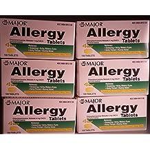 Anti-allergy Antihistamine Chlorpheniramine Maleate 4 Mg Generic for Chlor-trimeton Allergy 100 Tablets Per Bottle Total 600 Tablets by Chlor-Trimeton