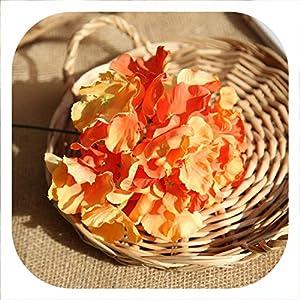Memoirs- Artificial Flower Bunch of Hydrangea Bouquet DIY Silk Flower Bridal Bouquets Home Table Wedding Decoration Floral,Orange 49