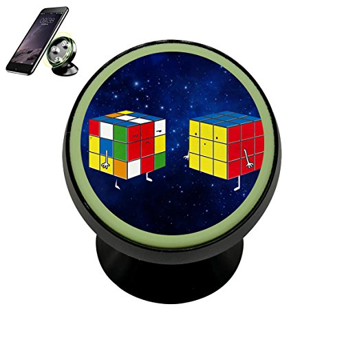 Cartoon Rubik's Cube Baby Magnetic Car Mount Holder for Cell Phones and Mini Tablets with Fast Swift-snap - Remain Full In And Force Effect