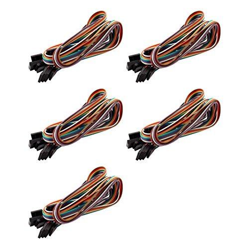 eDealMax femmina a femmina 6 Pin ponticello legare del cavo lunghezza 50cm larghezza di 8mm 5pcs Multicolore