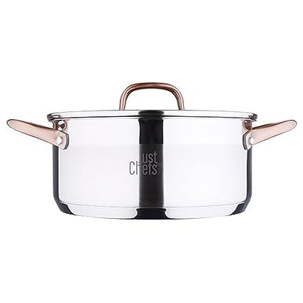 Just For Chefs Q2899 Cacerola 24cm 4.5l Acero Inoxidable inducción ...