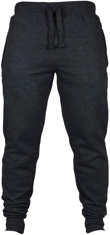 Ohq Hombres Fashion Otono Joggers Pantalones De Chandal De Cordon Solido De Color Solido Negro Azul Gris Caqui Amazon Es Ropa Y Accesorios