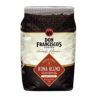 Don Francisco's Kona Blend, Medium Roast, Whole Bean, 100% Arabica Coffee (28-Ounce Bag)