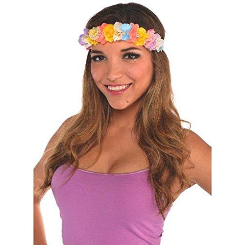 [Oasis Soft Head Wreath Summer Hawaiian Luau Costume Dress Up Party Headwear Accessory, Fabric, 36
