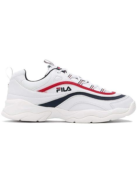 Fila Hombre 1010561150 Blanco Cuero Zapatillas: Amazon.es: Zapatos y complementos