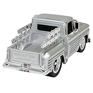 Best Choice Products 2.4 GHz Remote Control Drag Race Supercharger Muscle Truck RC Car Lights Sounds USB Charger- Silver