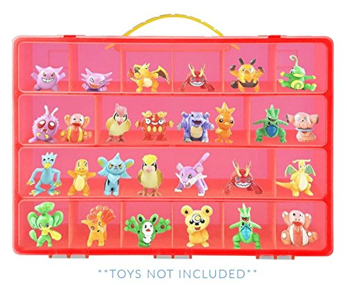 Small Figure Carrying Case - Life Made Better Pokemon Case, Toy Storage Carrying Box. Figures Playset Organizer. Accessories Kids LMB