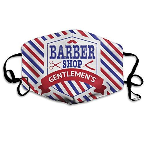 Vintage Emblem Of Barber Shop Flag Flu Dust Masks Reusable Cotton Breathable Safety Respirator for Outdoor Cycling Face Earloop Masks Dust Pollen Flu Germs Allergens Masks