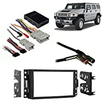 Fits Hummer H3 2006-2010 Double DIN Aftermarket Harness Radio Install Dash Kit