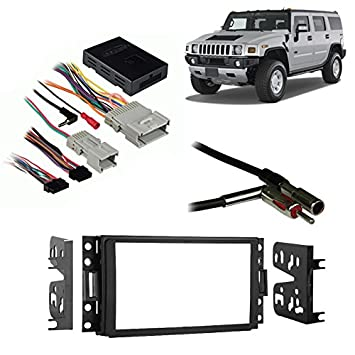 2007 hummer h3 stereo wiring harness 2007 image amazon com fits hummer h3 2006 2010 double din aftermarket on 2007 hummer h3 stereo wiring