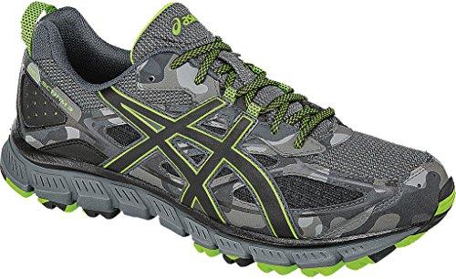 ASICS Men's Gel-Scram 3 Trail Runner, Carbon/Black/Green Gecko, 12 M US