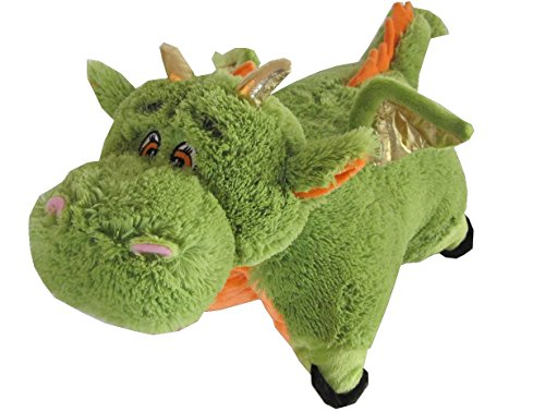 Green Dragon Zoopurr Pets 2-in-1 Stuffed Animal and Pillow Large 19