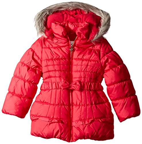 Bow Simpson Little with Pink Puffer Jessica Girls' Coat PxBCnq8