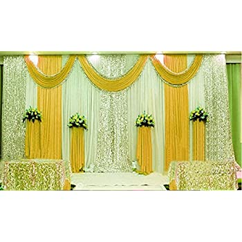 Amazon.com: LB Wedding Stage Decorations Backdrop Party Drapes with ...
