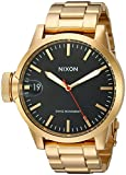 Nixon Men's A441510 Chronicle 44 Analog Display Swiss Quartz Gold Watch