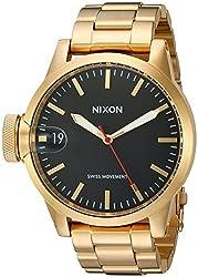 Nixon Men's A441510 Chronicle 44 Analog Display Swiss Quartz Gold Watch
