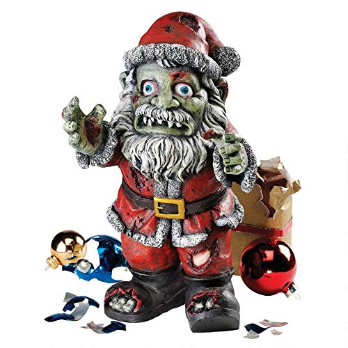 Christmas Decorations - Zombie Santa Claus Holiday Decor Zombie Apocalypse Statue