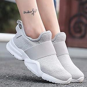 MTENG Women's Mesh Low-Cut Flat-Slip Sneakers Outdoor Wild Running Shoes Lazy Shoes (36-42)