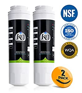 K&J 2- Pack Maytag Compatible Refrigerator Water Filters for UKF8001 Pur - Replacement for Maytag UKF8001, UKF8001AXX, EDR4RXD1, Whirlpool 4396395, Puriclean II, Kenmore 9006 - Maytag Fridge Filter
