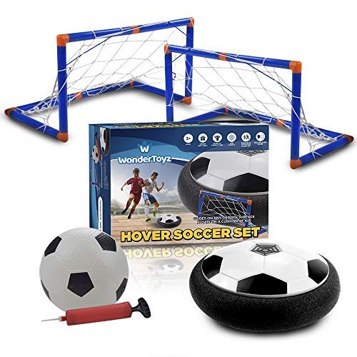 - Hover Soccer Ball Kids Toy - Hovering Soccer Ball Set With 2 Goals, 1 LED Hover Soccer Ball & 1 Inflatable Ball For Extra Sport Fun! Perfect Gift For Your Child Boy and Girl