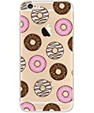 iPhone 6/6s case, Geekmart Clear Soft TPU Printed Protective Cover Case 4.7 inch (Donut)
