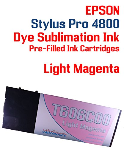 Dye Sublimation ink pre-filled Light Magenta ink cartridge 220ml - Epson Stylus Pro 4800 (4800 Magenta Ink)