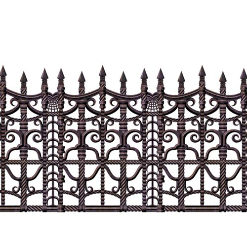 Creepy Fence Border Party Accessory (1 count) (1/Pkg) (Creepy Border Fence)