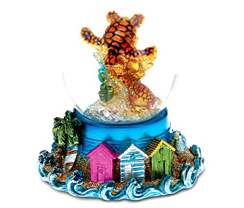 CoTa Global Green and Blue Sea Turtle Snow globe- Decor Accents (45 mm) - 3 Inches - Item #9713 by CoTa Global