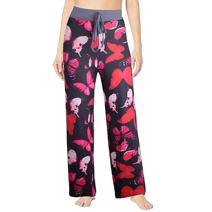 Vectry Mujer Verano Impreso Cómodo Casual Playa Pantalones ...