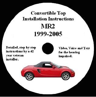 toyota mr2 convertible top installation dvd amazoncom bmw z3 convertible top