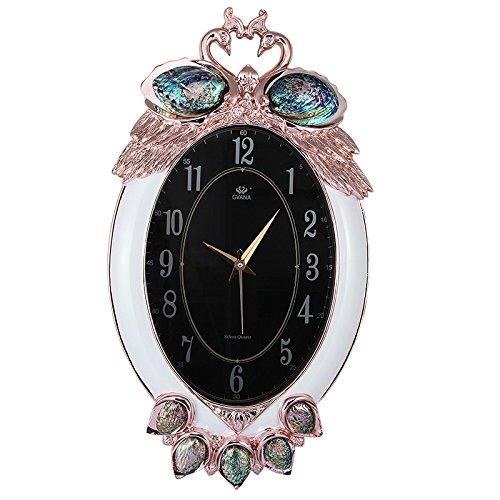 WD European Fashion Creative Living habitación reloj de pared Mute Vintage relojes personalizados relojes reloj de péndulo decorativo decoración del hogar: ...
